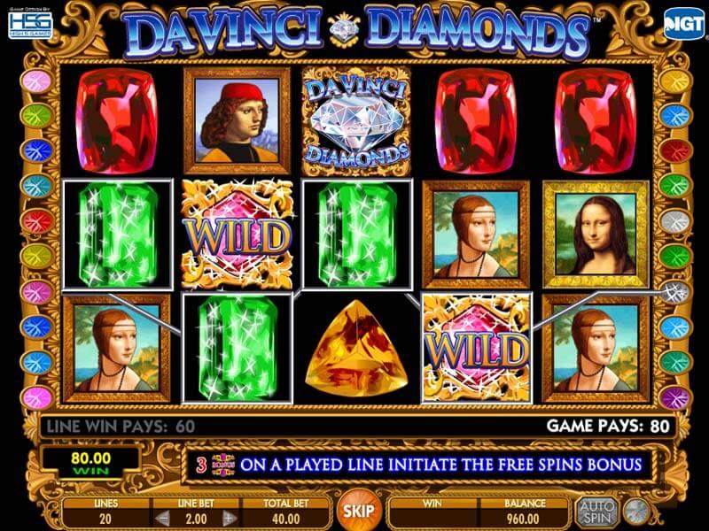 Casino Slots Davinci Diamonds